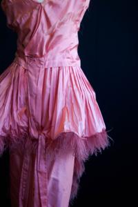 Fargo-Moorhead Community Theater - Coral Pink Lampshade Dress (1910s)
