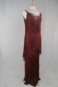 NDSU Theatre Department - Burgundy Lace Dress (1920s-1930s)