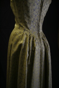 Shirley (Welk) Fredricks - Gold and Blue Brocade Dress (1956)