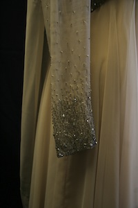 Norma Zimmer - Champagne Chiffon Beaded Dress (1970s)