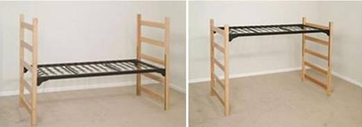 medium loft features raises bed frame