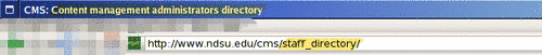 Page title is unchanged but the page URL is now staff_directory