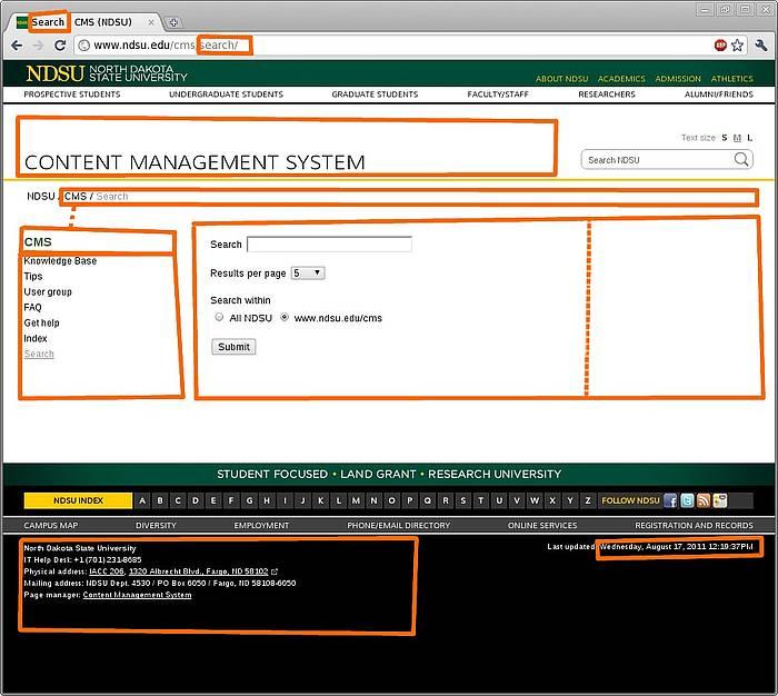 Editable page regions CMS