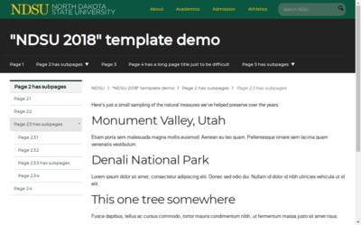 Template   New template (NDSU 2018)   NDSU