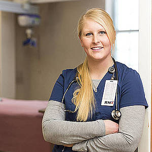 image of student in scrubs