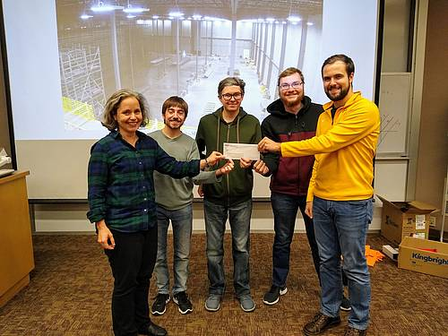 NDSU Students and Adviser accept award from Digi Key