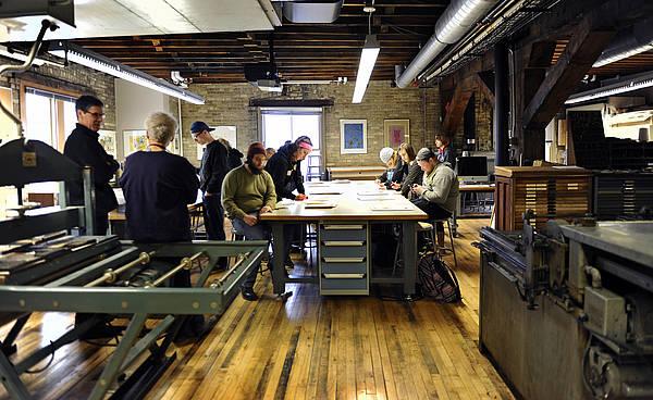 Printmaking Lab Visual Arts NDSU