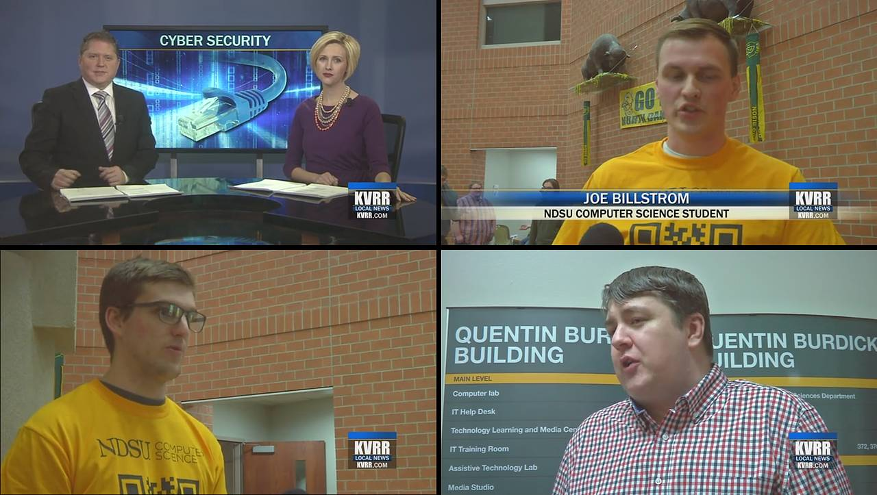 News Station Kvrr Visited Ndsu S Quentin Bur Building To View Student Projects Related Cyber Physical System Cybersecurity