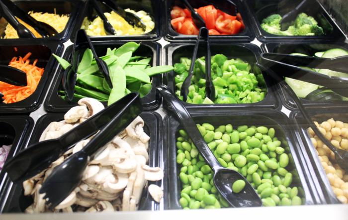 salad bar options vegetables
