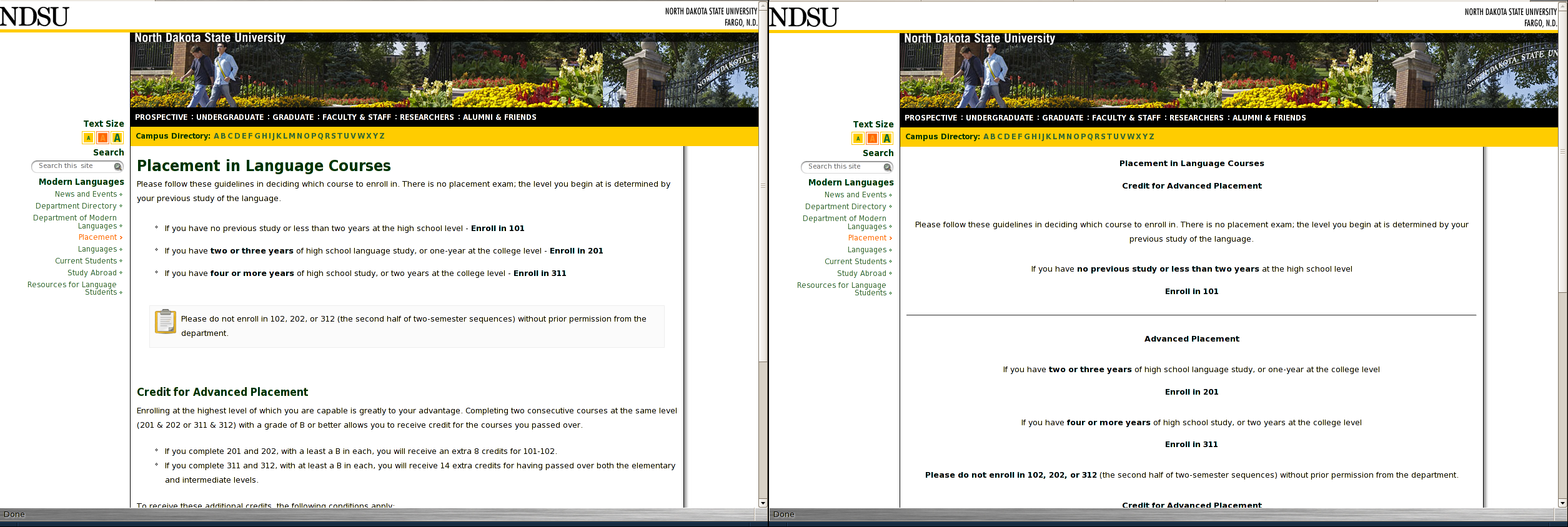 Example Of Improving A Home Page CMS NDSU