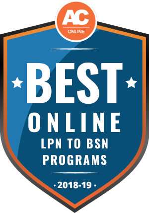 Badge image for top online LPN to BSN program