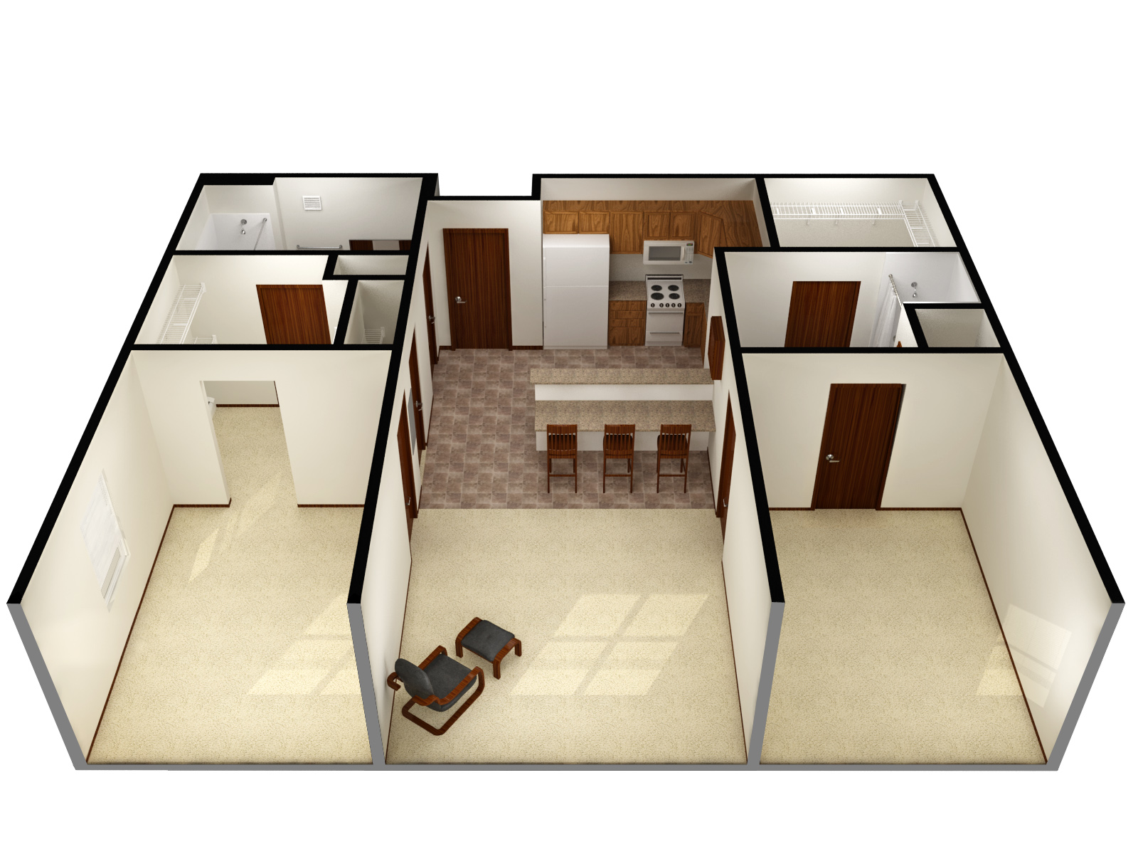 A 3 bedroom 2. Niskanen Expansion   Residence Life  NDSU