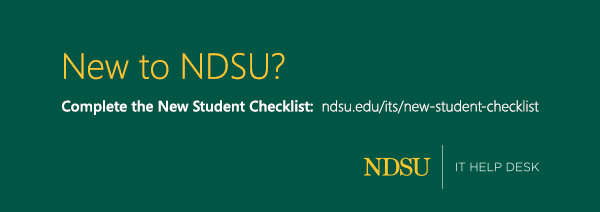 IT services checklist for new NDSU students