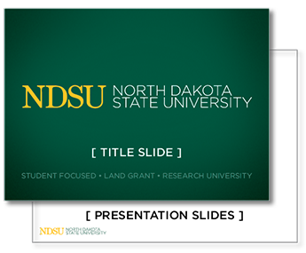 Powerpoint templates university relations ndsu green title slide white presentation slides pronofoot35fo Image collections