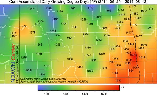 2014 Corn Growing Season GDDs