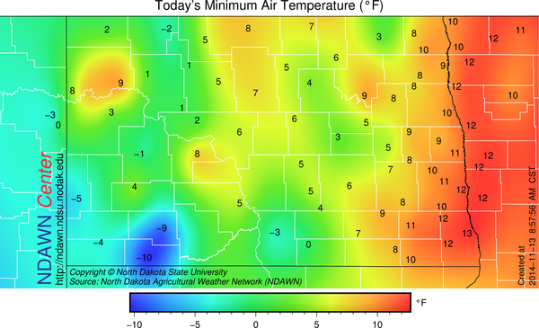 11/13/14 minimum air temperature