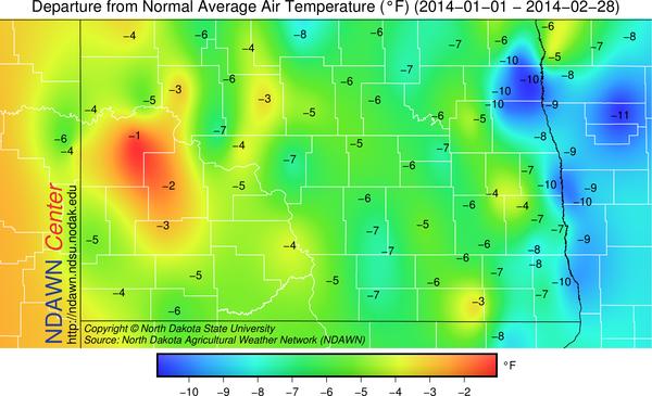 January/February 2014 Temperature Anomalies