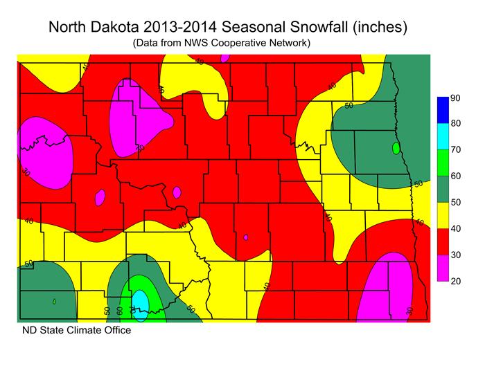 Winter 2013-2014 Total Snow