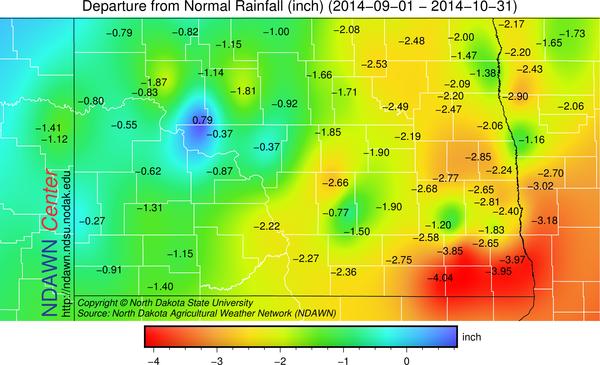 September and October 2014 Precipitation