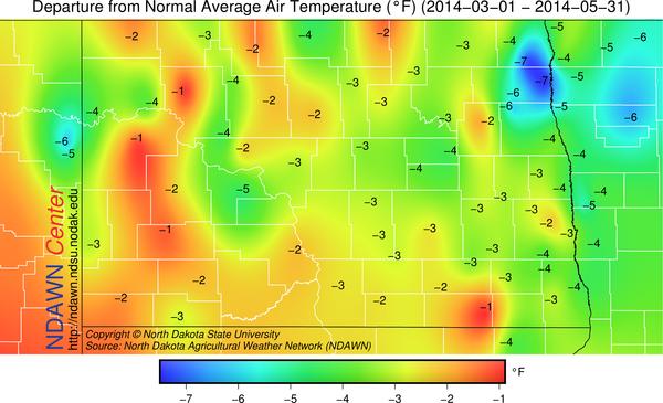 Spring 2014 Temperature Anomalies