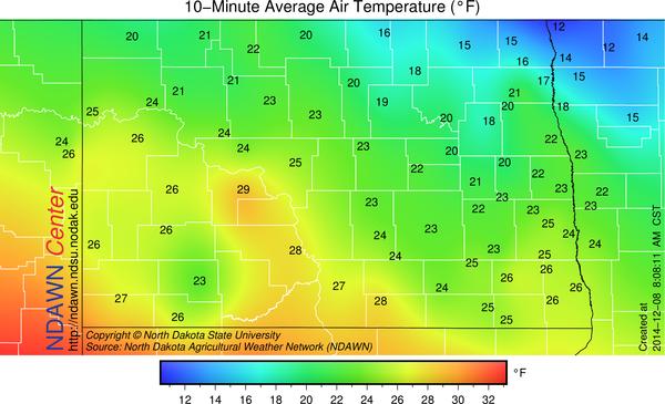 8:00 AM Temperatures
