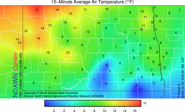 8:30 AM Temperatures
