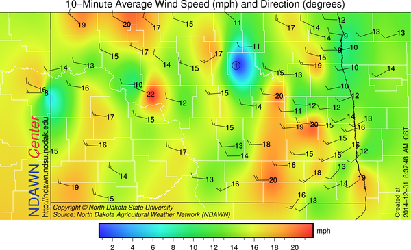 Wind Speed as of 8:30 this morning.