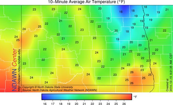9:15 AM Temperatures