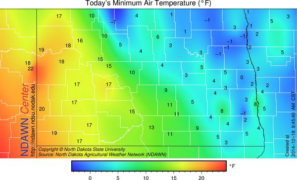 12/18/14 Minimum Temperatures
