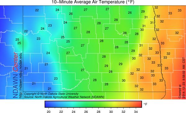 9:00 AM Temperatures
