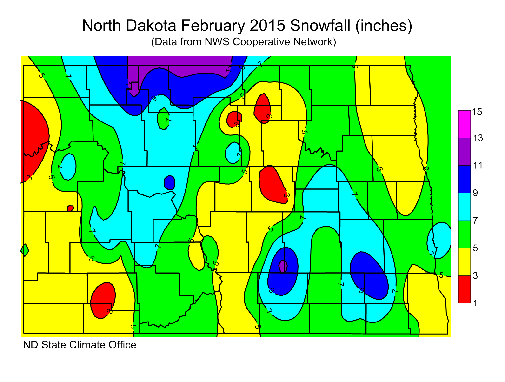 February 2015 Snow Totals