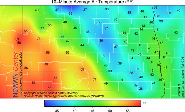 1:30 PM Temperatures