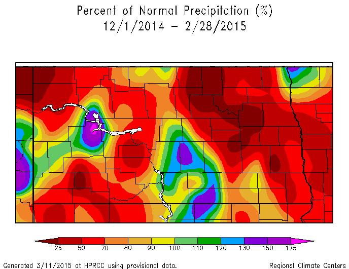 Percent of Normal Precipitation