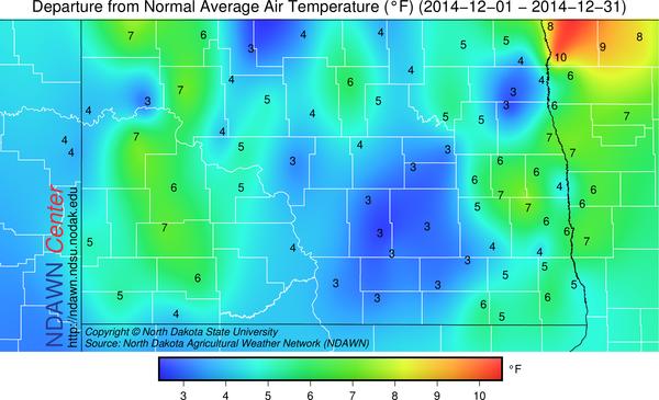 December 2014 Temperature Anomalies