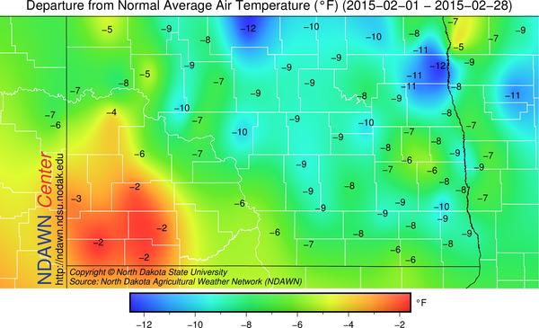 February 2014 Temperature Anomalies