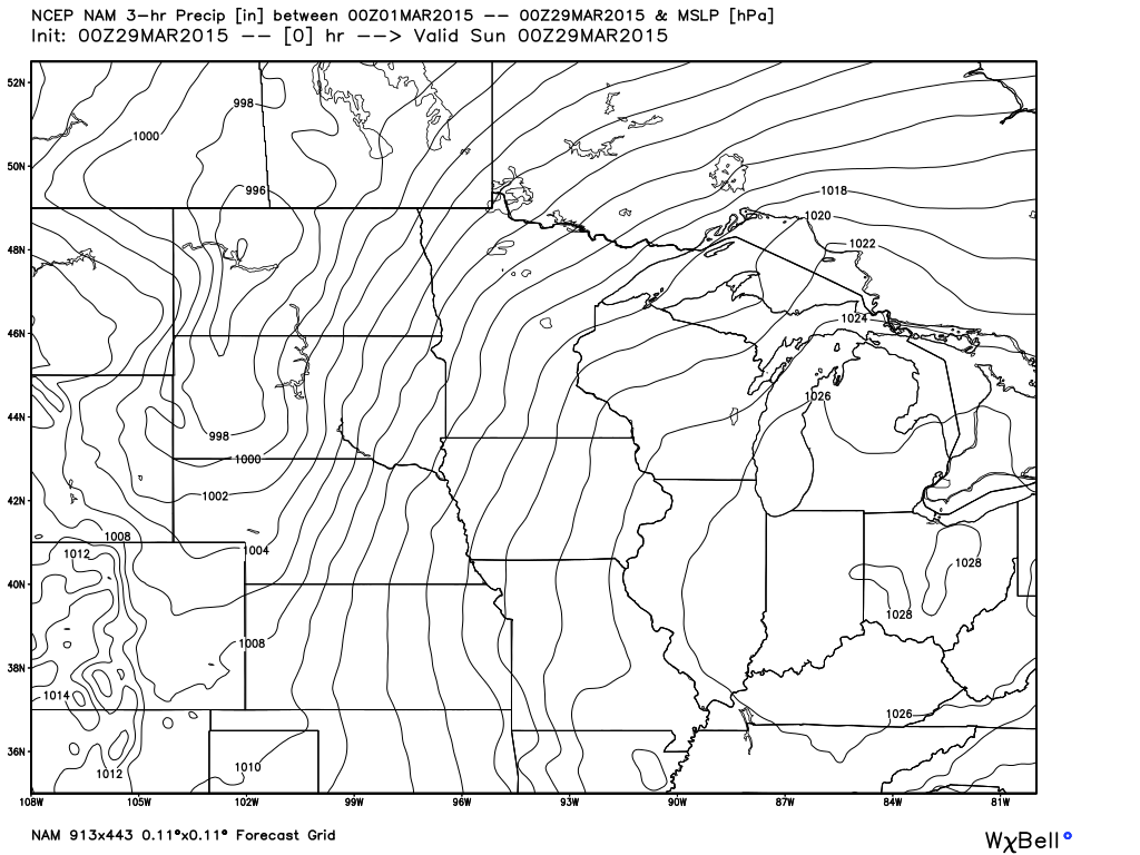 Saturday, March 28, 2015 7 PM Surface Analysis