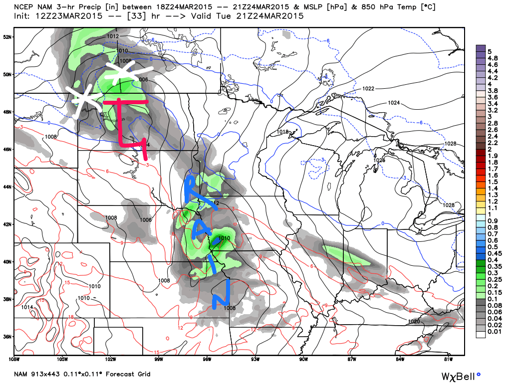 Surface Map at 4:00 PM Tuesday