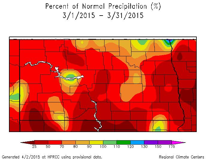 March Percent of Normal Precipitation