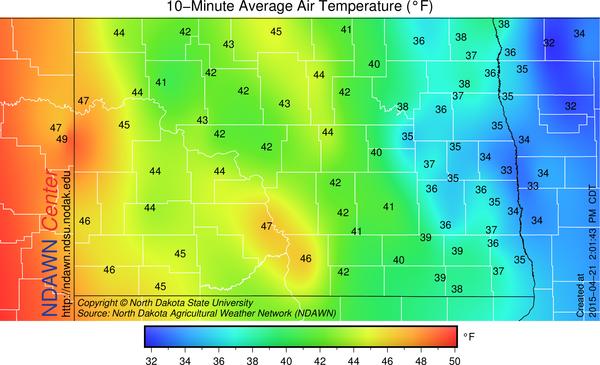 2 PM Temperatures
