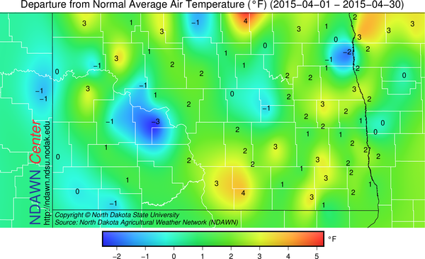 Average Temperature Departure from Normal