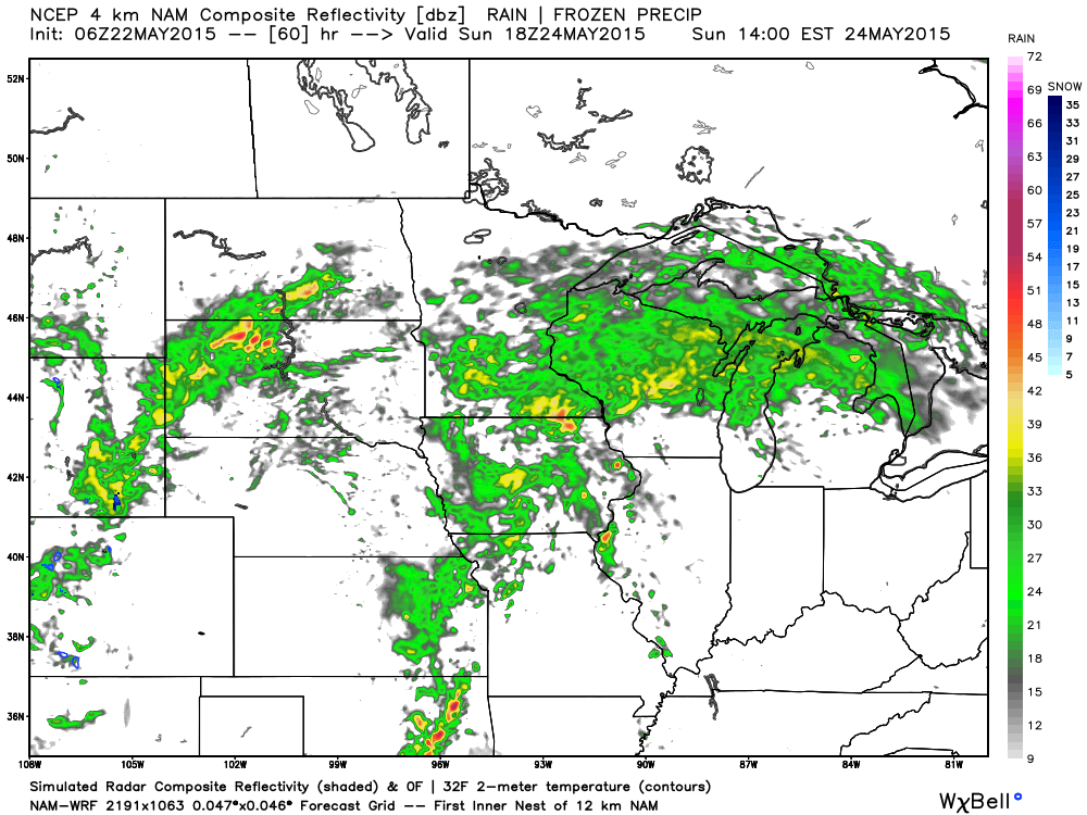 Potential Radar Sunday, May 24, 1 PM