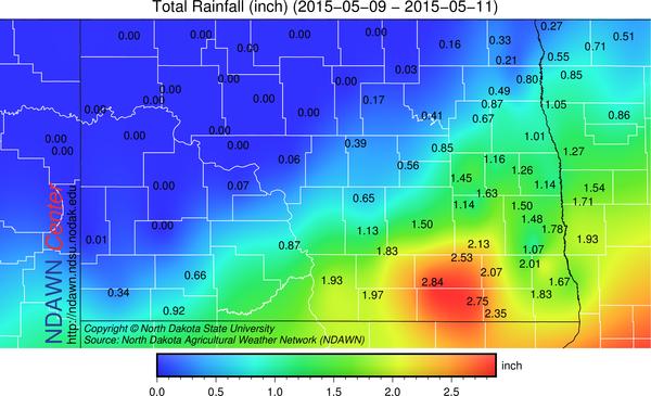 May 9-11, 2015 Storm Totals Rain