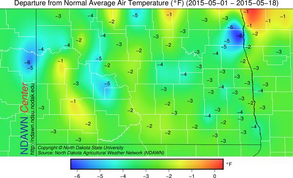 Temperature Anomalies through May 18