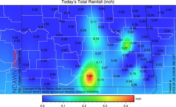 Total rain through 8:00 AM May 6, 2015