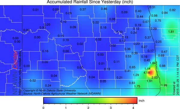 May 28, May 29 Rain Totals