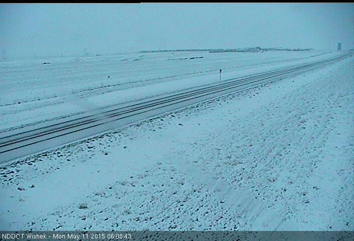 A view from Wishek, ND Monday, May 11, 2015