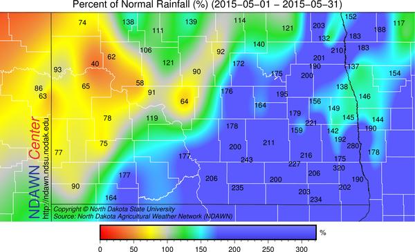 May 2015 rain percent