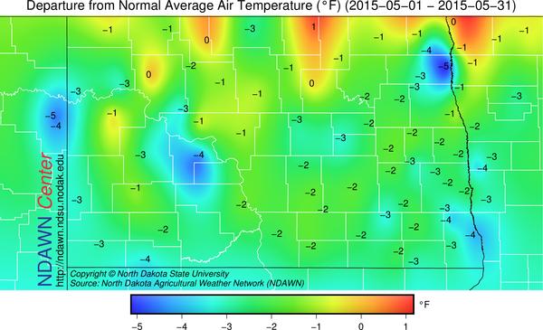 Average Temperature Anomaly, May 2015