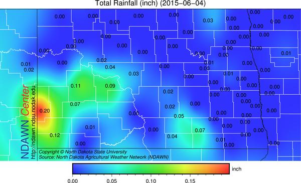 June 4, 2015 Rain Totals