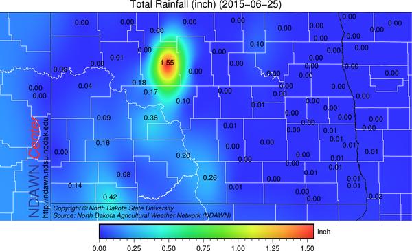 June 25, 2015 Rain Reports
